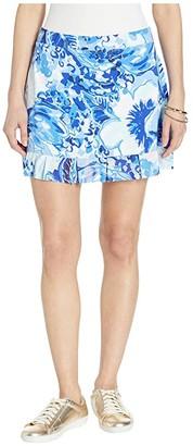 Lilly Pulitzer 15 Meryl Nylon Azelie Skirt (Coastal Blue Catch N Keep) Women's Skirt