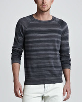 Theory Rudi Striped Raglan Sweater