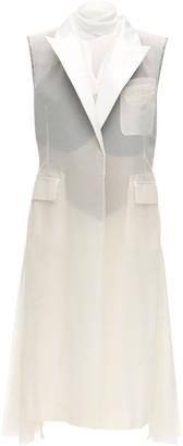 Sacai Sleeveless Cotton Blend Dress