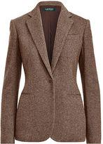 Ralph Lauren Single-Button Tweed Blazer