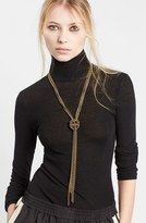 Lanvin Women's Loose Knot Brass Necklace