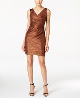 Calvin Klein Draped Plissé Cocktail Dress