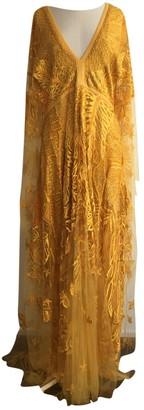 Elie Saab Yellow Silk Dresses