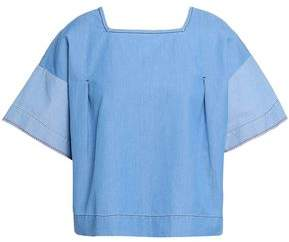 Chinti and Parker Cotton-chambray Top