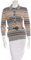 Tory Burch Wool Chevron Print Sweater