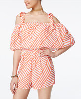 SHIFT Juniors' Cold-Shoulder Romper, Only at Macy's