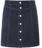 Dorothy Perkins Womens **Tall Indigo Denim Skirt- Blue