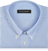 Forzieri Light Blue Striped Non Iron Cotton Dress Shirt