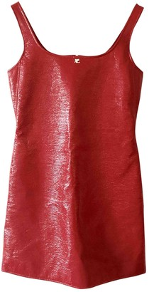 Courreges Red Cotton Dress for Women