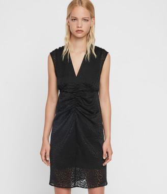 AllSaints Aldine Leopard Dress