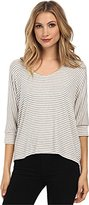 Splendid Women's Belmar Stripe V Neck Dolman Shirt