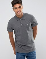Abercrombie & Fitch Polo Muscle Slim Fit Stretch Pique In Charcoal Grey