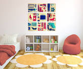 STUDY Spin Collective Picerty Wall Sticker Blue And Red