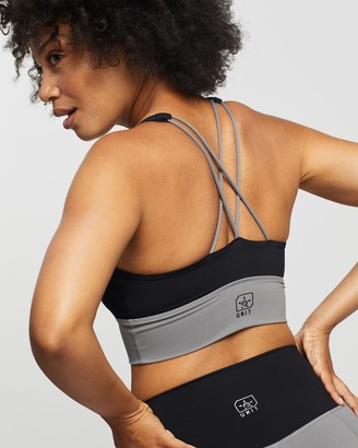 Unit Women's Black Crop Tops - Energy Strap Sports Bra - Size One Size, 6 at The Iconic