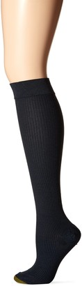 Gold Toe Women's Moderate Compression Ribbed Over The Calf Socks 1 Pair