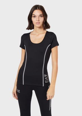 Emporio Armani Ventus 7 Tech Fabric Top With Reflective Details
