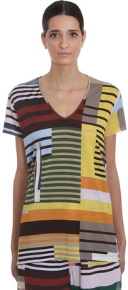 Rick Owens Cut Out Tee T-shirt In Multicolor Viscose