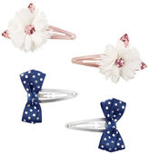 Osh Kosh 4-Pack Flower & Bow Snap Clips
