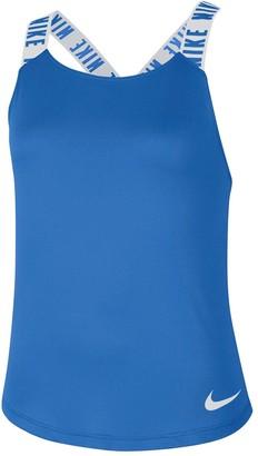 Nike Dry Older Girls Elastika Training Vest - Blue/Grey