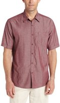 Cubavera Men's Short Sleeve Shirt with Pocket and Tucking Detail