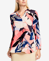 Vince Camuto Printed V-Neck Tunic