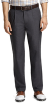 Brooks Brothers St Andrews Links Pleat-Front Grey Pants