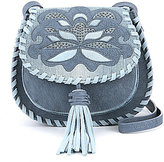 Steve Madden Steven by Kalli Tasseled Whip-Stitched Embossed Saddle Bag