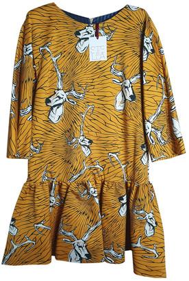 Stella Jean Yellow Cotton Dresses