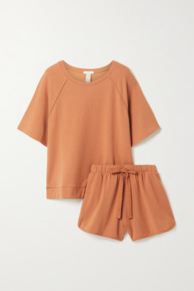 Eberjey Blair Stretch Pima Cotton And Modal-blend Pajama Set - Tan