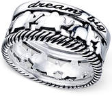 Unwritten and#034;Dream Bigand#034; Elephant Ring in Sterling Silver