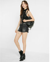 Express one eleven cut-out front mock neck tank