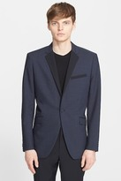 Theory &Wellar& Trim Fit Wool Dinner Jacket