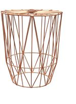 Life Interiors Outdoor Coffee & Side Tables Studio Wire Side Table, Copper