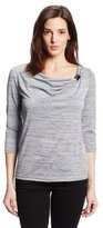 Sag Harbor Women's Petite Malone Knit Top