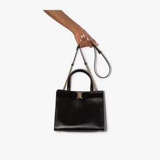 Salvatore Ferragamo black Vara leather shoulder bag