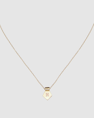 Ca Jewellery Letter H Pendant Necklace Gold