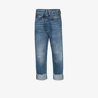 R 13 Crossover Turn-Up Jeans