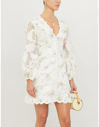 Zimmermann Zinnia floral-print woven mini dress