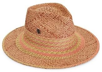 Raffaello Bettini Multicolor-Trimmed Wide-Brim Straw Hat