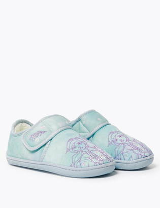 Marks and Spencer Kids' Disney Frozen Riptape Slippers (5 Small - 12 Small)