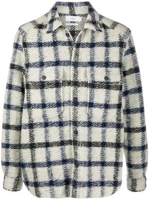 Closed Check Wool Shirt Jacket