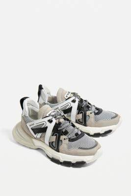 Bronx Seventy Street Grey & White Chunky Trainers - white UK 8 at Urban Outfitters