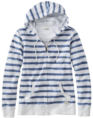 L.L. Bean Women's Organic Cotton Hooded Sweatshirt, Long-Sleeve Print
