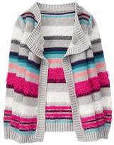 Gymboree Fuzzy Striped Cardigan
