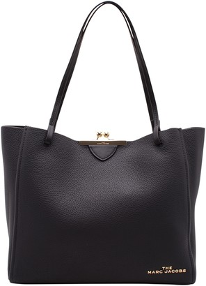 Marc Jacobs kiss Lock Leather Tote Bag