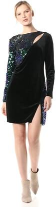 SHO Women's L/S Sequin/Velvet Dress W/Cutout