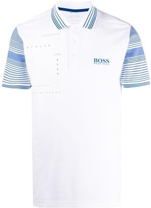 BOSS Stripe Detail Polo Shirt