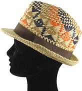 La Fiorentina Multi Colored Weaved Straw Hat.