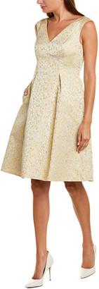 Adrianna Papell Jacquard A-Line Dress