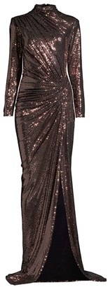 Jovani Metallic Evening Gown